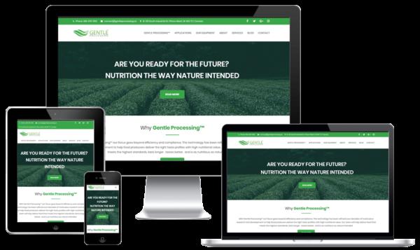Food Processing Company Custom WordPress Web Design