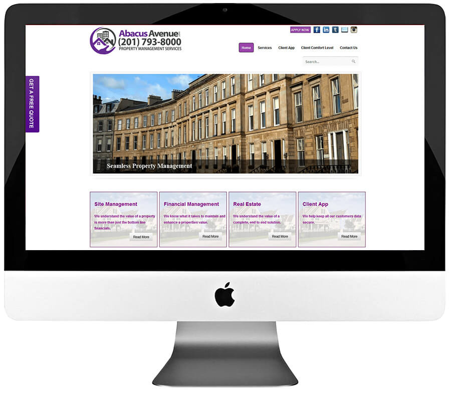 Property Management Company WordPress Web Design