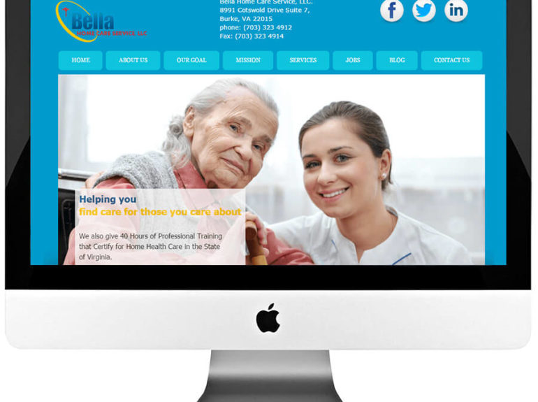 Elderly Care Service Custom WordPress Website