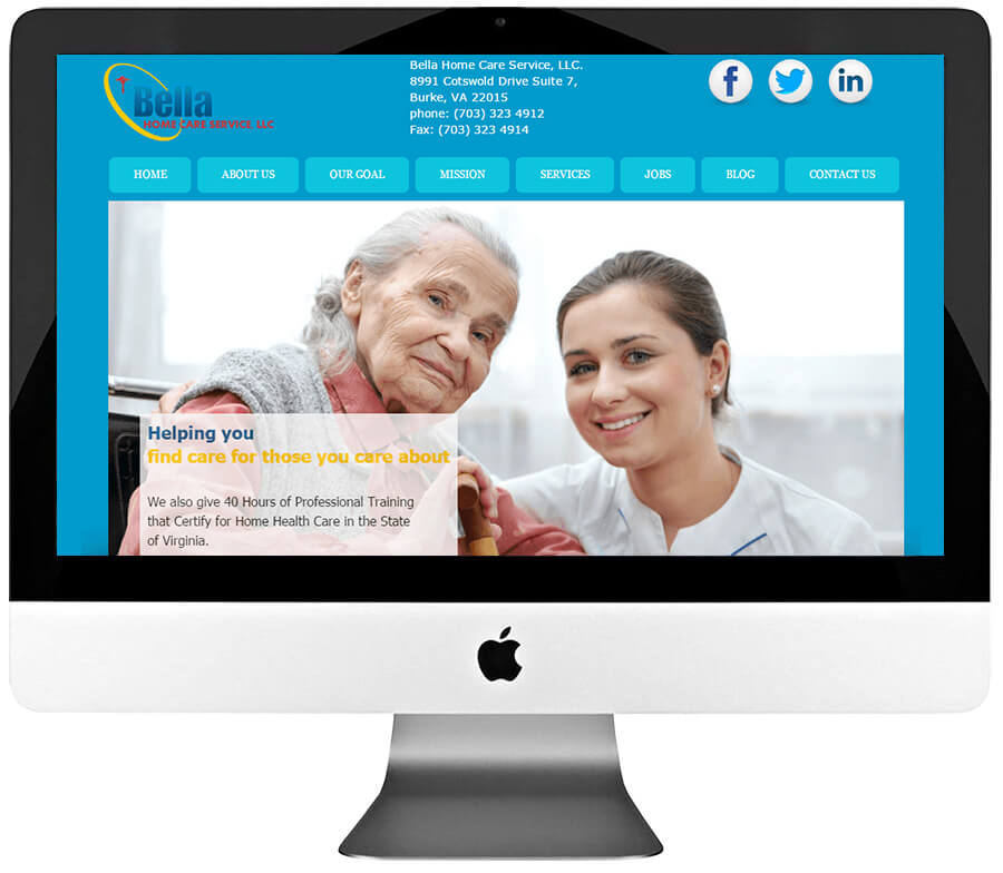 Elderly Care Service Custom WordPress Website