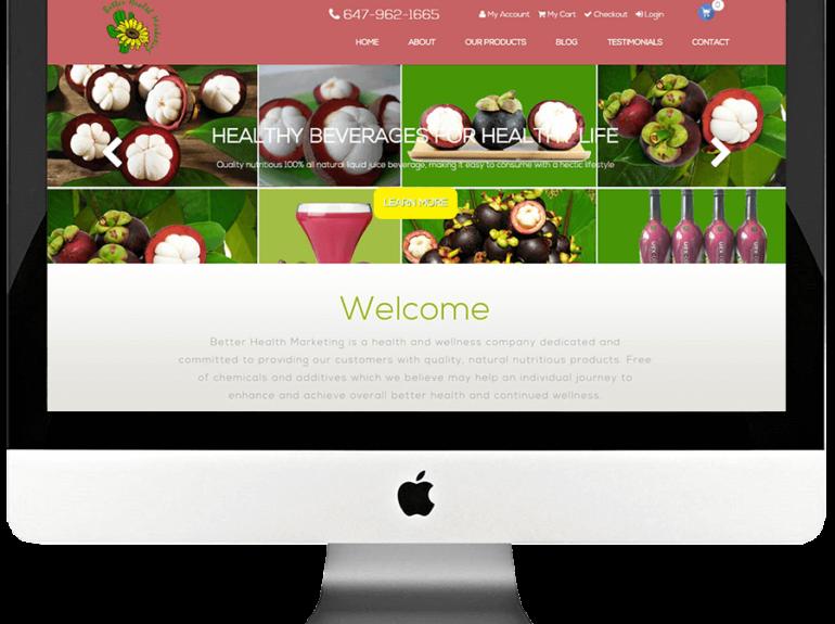 Better Health Marketing- Bootstrap Responsive WooCommerce website