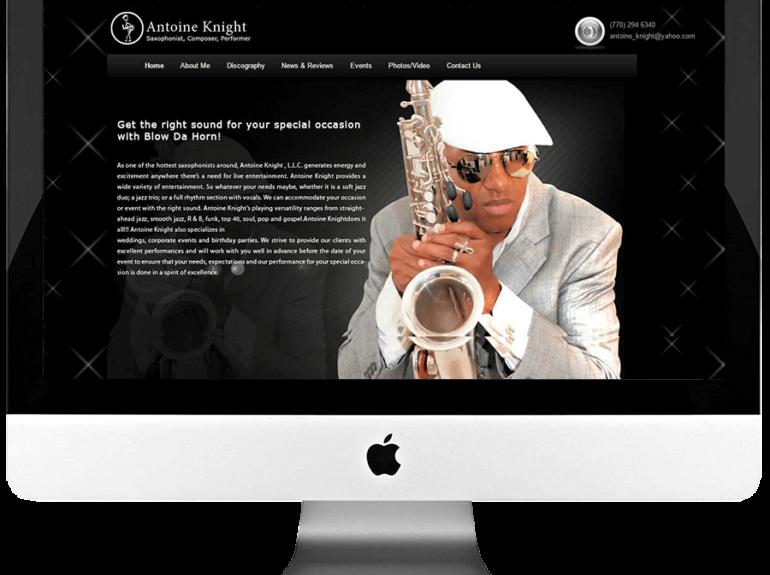 Artist Custom WordPress Web Design