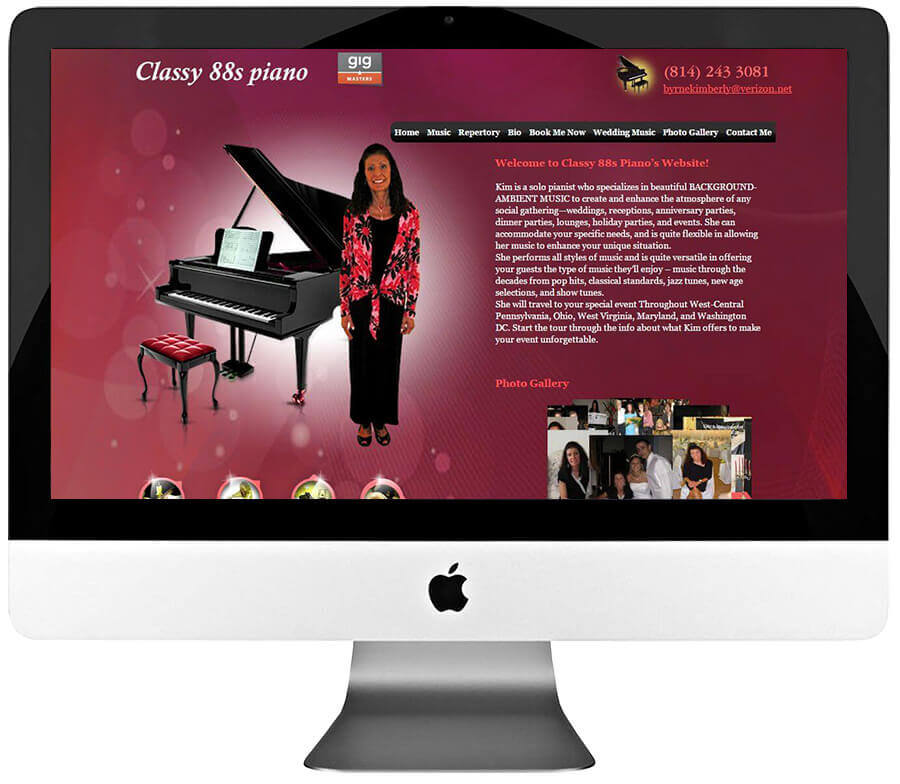 Pianist Custom WordPress Website Design