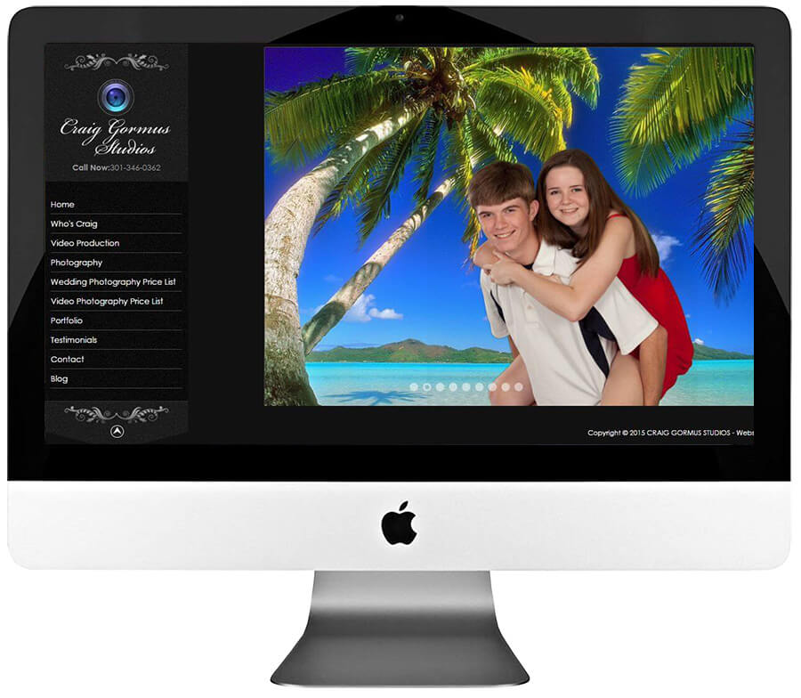 Photographer Custom WordPress Web Design