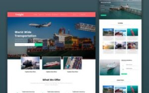Freight Landing Page Design Services