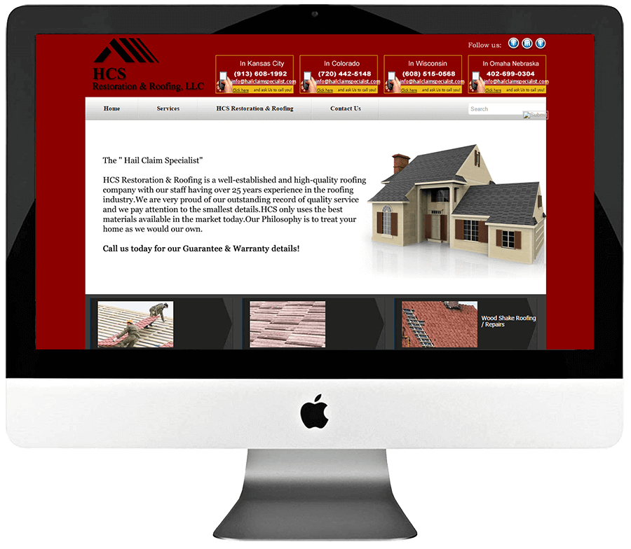 Restoration & Roofing Specialist Responsive WordPress Website Development