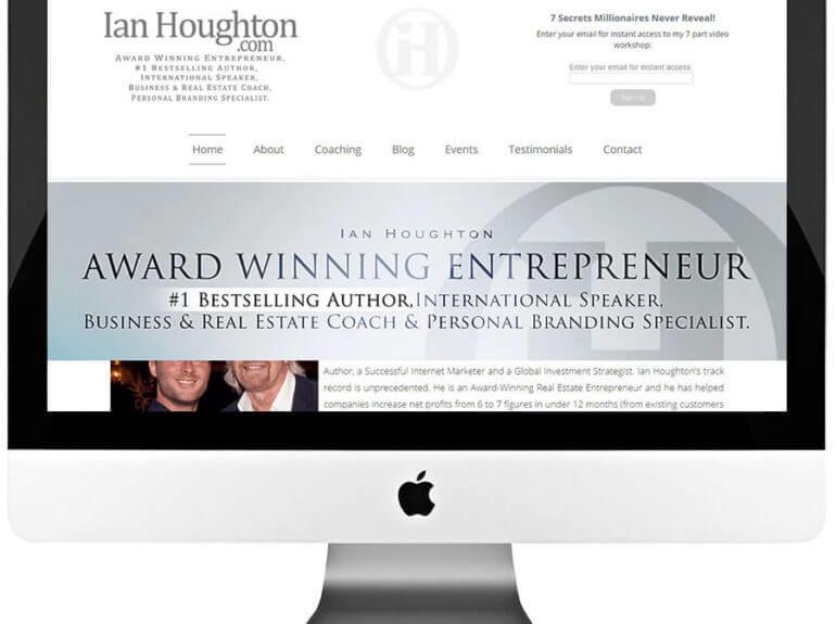 Business Coach Custom WordPress Web Design & Development