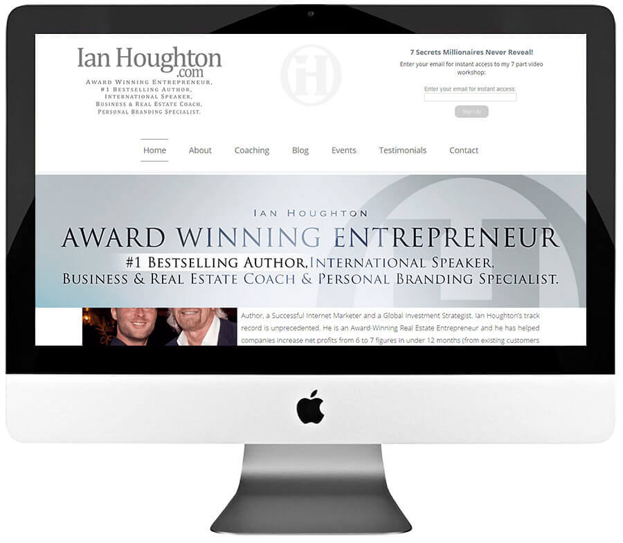 Business Coach Custom WordPress Web Design & Development