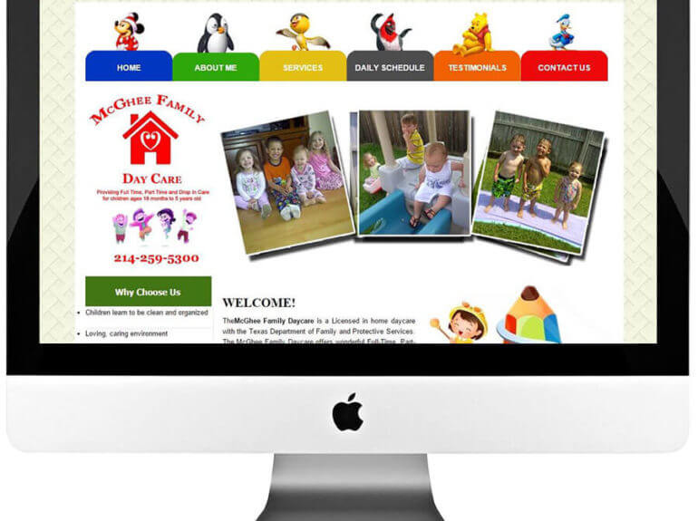 Home DayCare Center WordPress Web Design