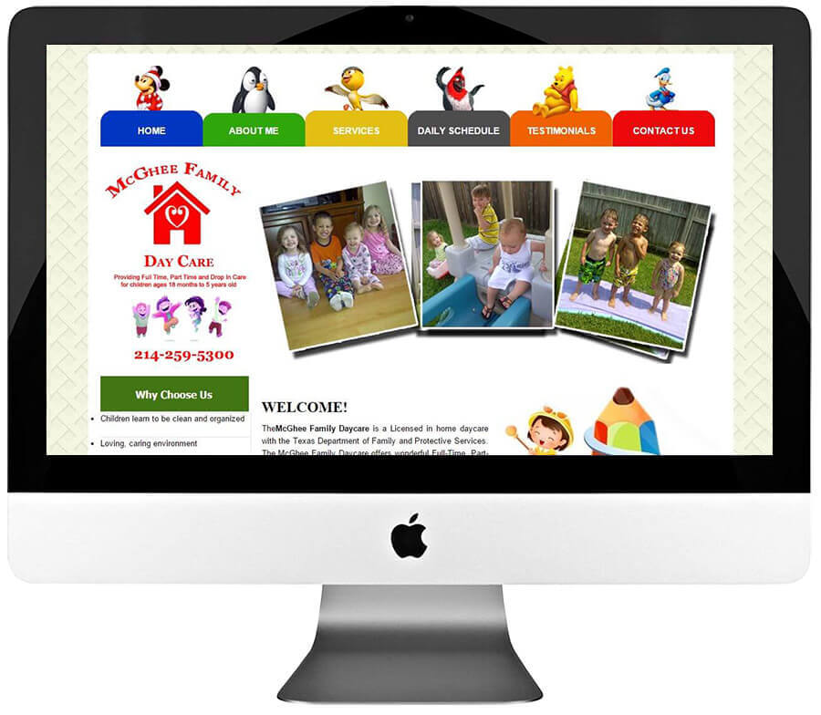 Home DayCare Center WordPress Web Design