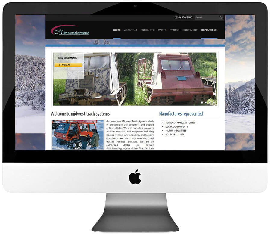 Snowmobile Trail Groomers and Tracked Utility Vehicles Dealer Weebly Web Design