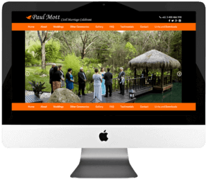 Civil Marriage Celebrant Responsive WordPress Web Design