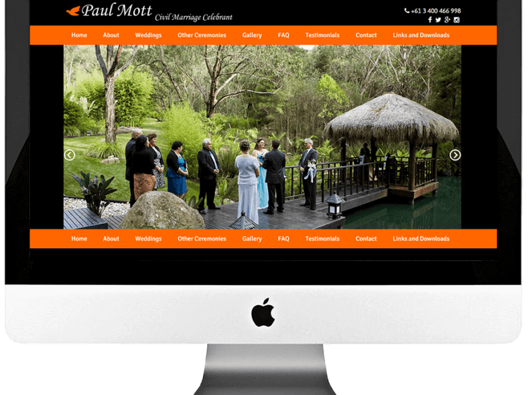 Civil Marriage Celebrant Responsive WordPress Web Design