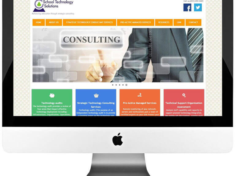 Technology Consultant Custom WordPress Web Design