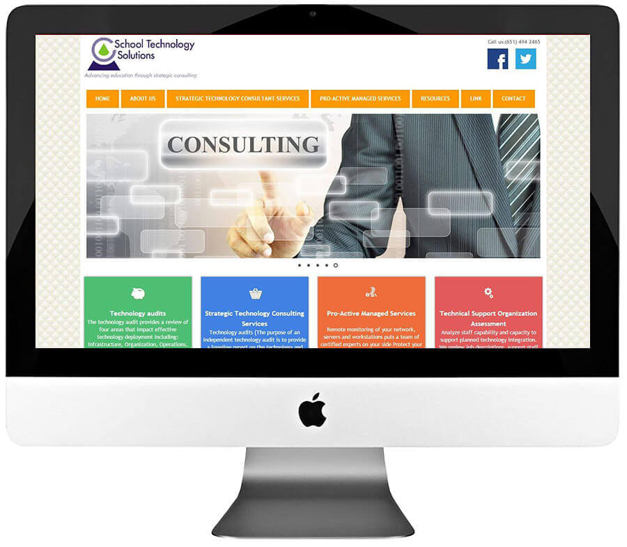Technology Consultant Custom WordPress Web Design