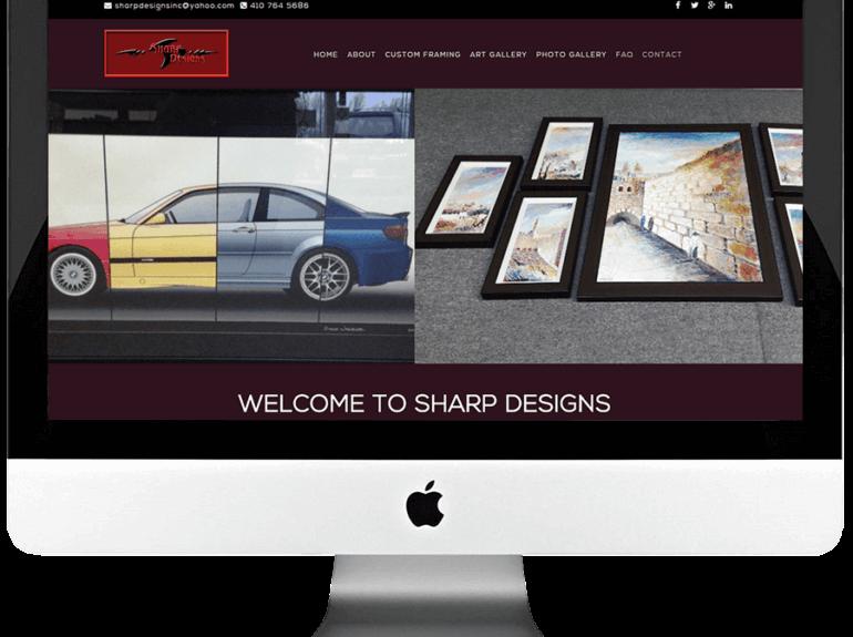 Custom Picture Framing Enterprise Responsive WordPress Website Development