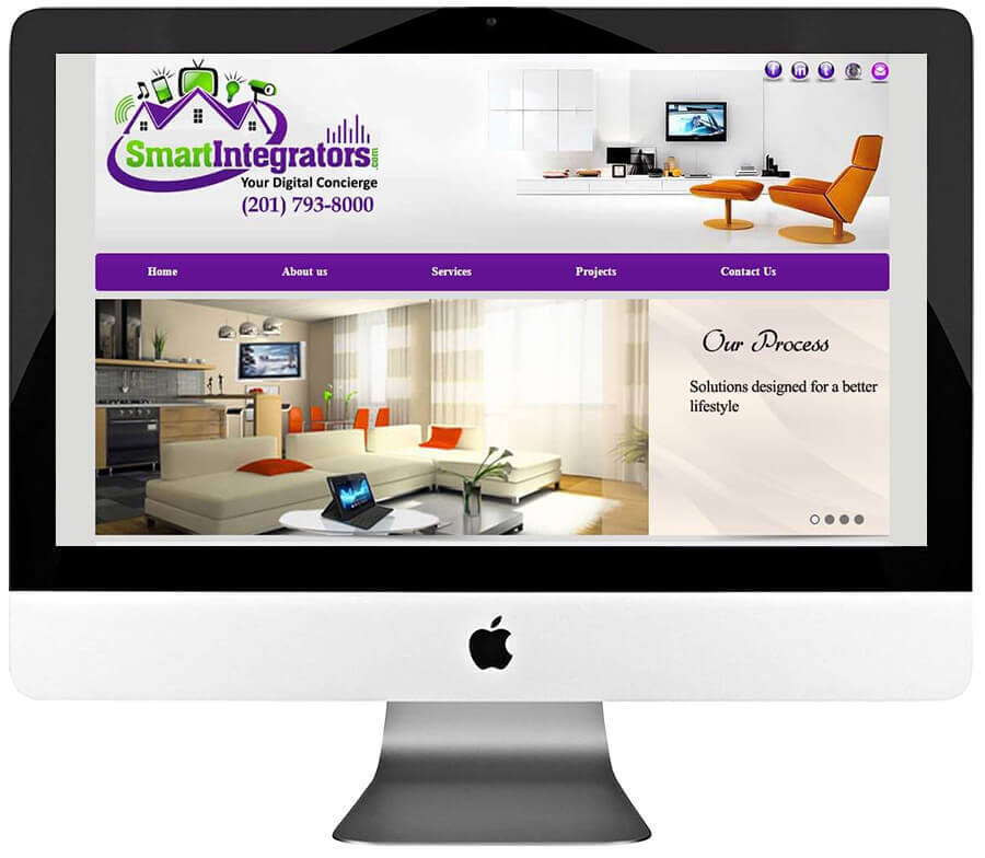 Home Automation Company Custom WordPress Website Design