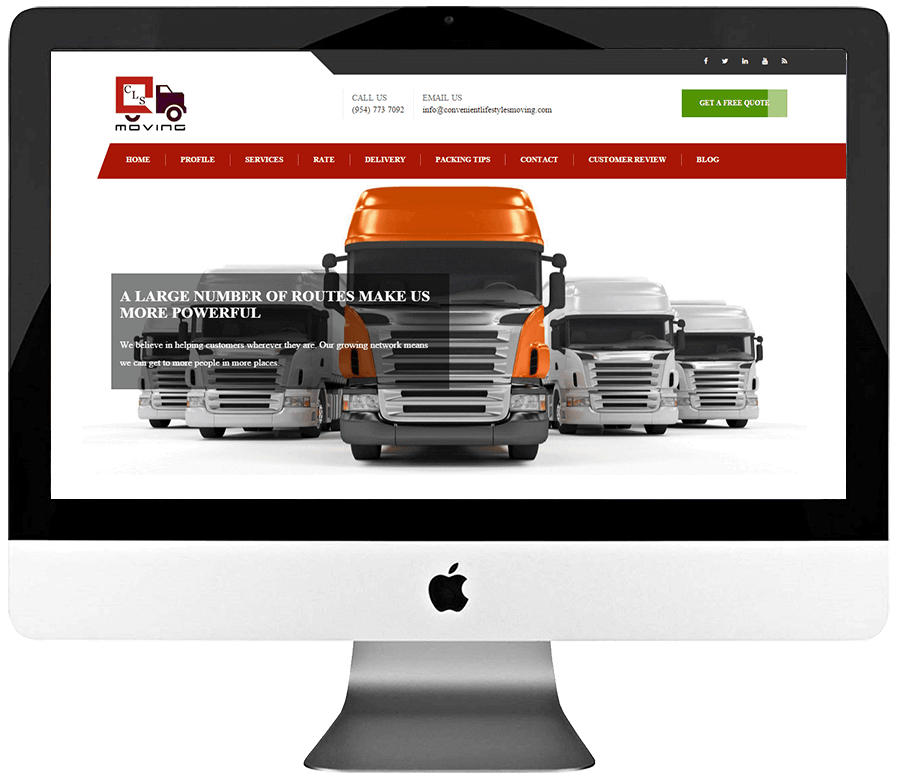Moving Company Responsive WordPress Web Design