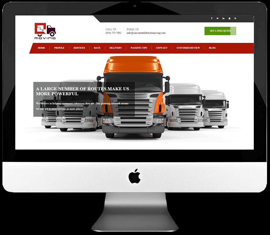 Moving Company Responsive WordPress Web Design