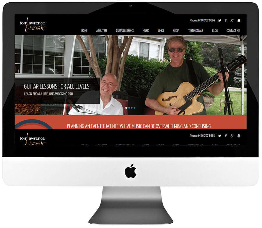 Musician Custom WordPress Website Design & Development