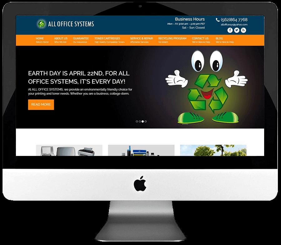 Office Equipment Repair Company Custom WordPress Web Design