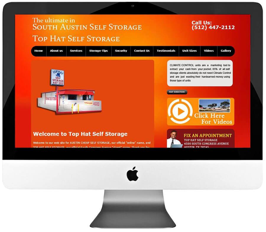 Self Storage Company WordPress Website Design