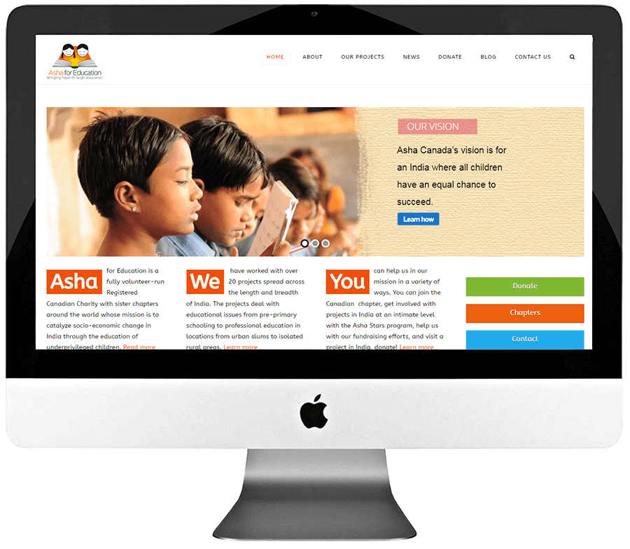 Non Profit Organization WordPress Website Development