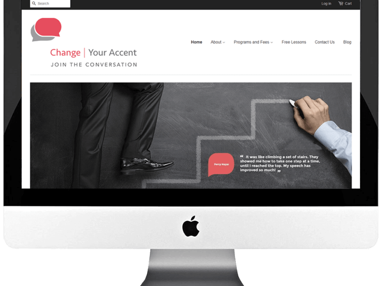 Accent Reduction Trainer WordPress Website Development