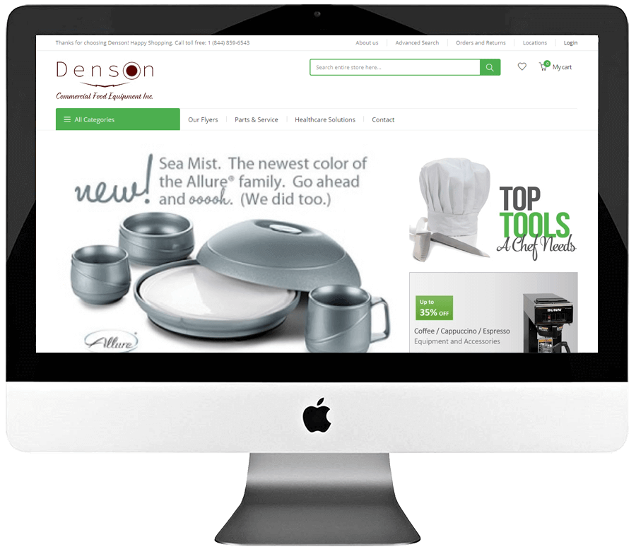 Commercial Food Equipment Supplier Magento Store Development