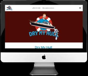 Mobile Hull Drying Service Company Responsive WordPress Landing Page Design