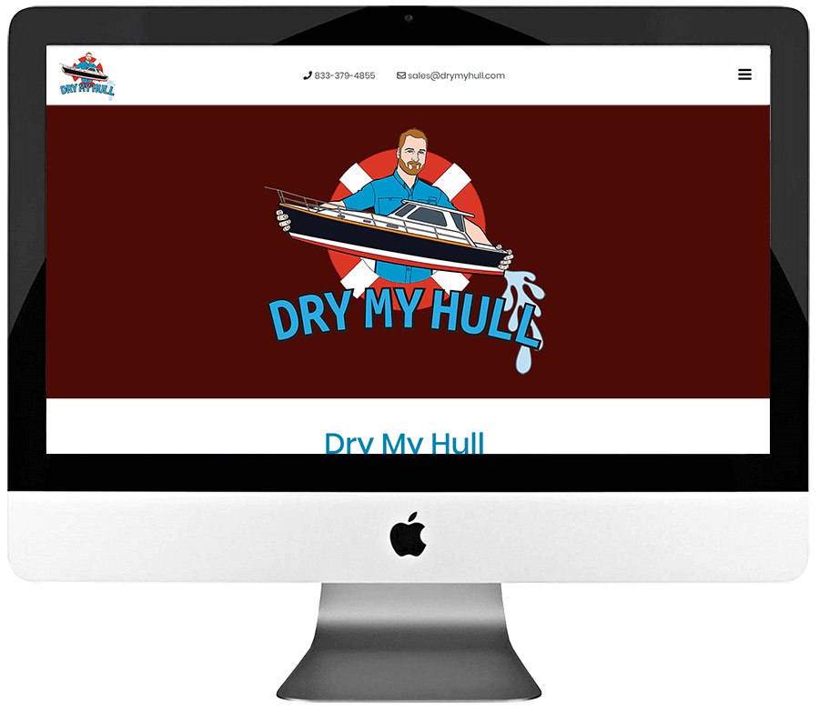Mobile Hull Drying Service Company Responsive WordPress Landing Page Design