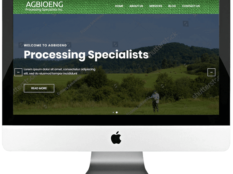Agriculture Consulting Firm Responsive WordPress Website Development