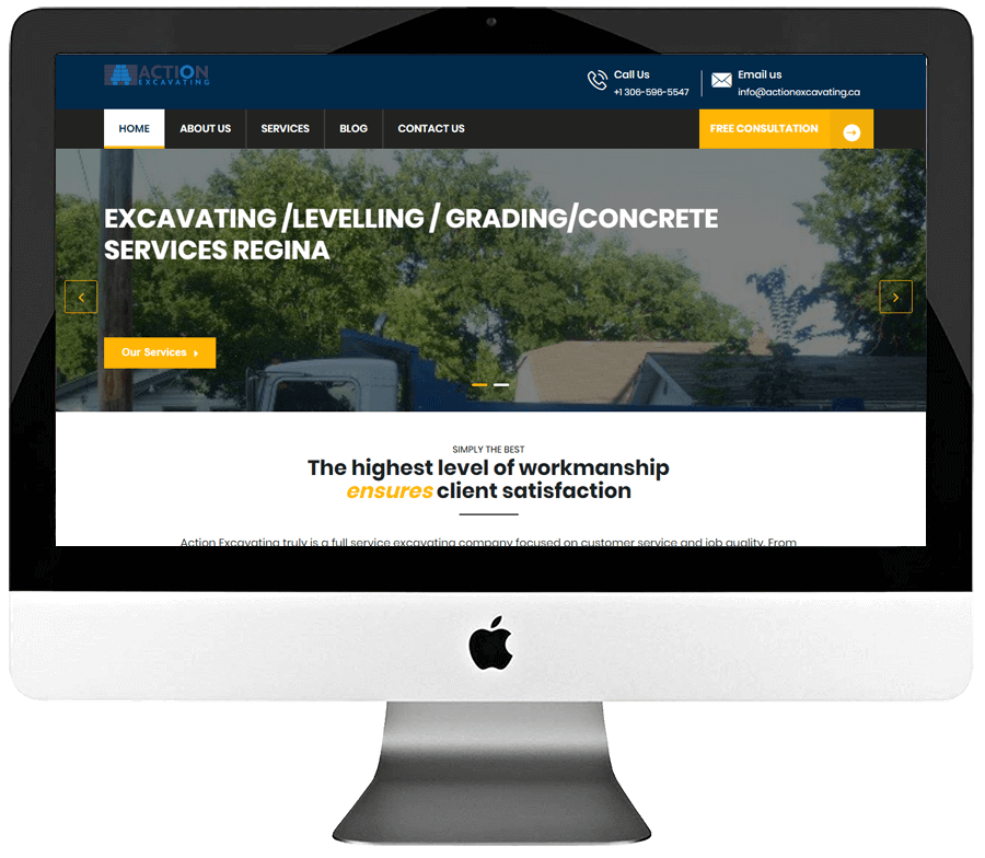 Excavating Company Responsive WordPress Website Design & Development