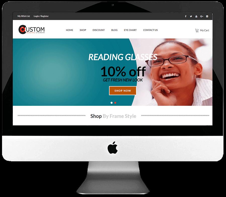 Eyewear Responsive WooCommerce Store Development