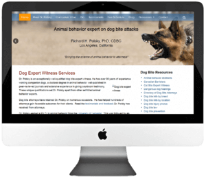 Dog Expert Witness Services WordPress Website Design
