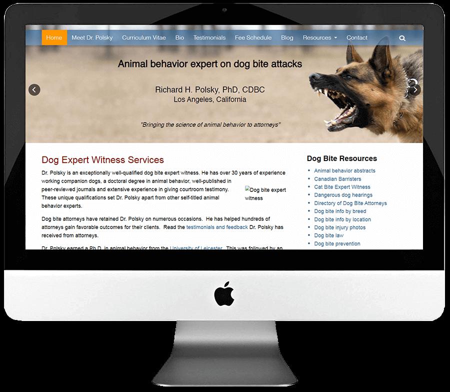 Dog Expert Witness Services WordPress Website Design