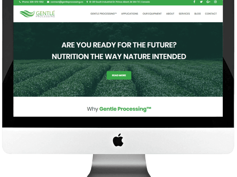 Food Processing Technology Responsive WordPress Website Design