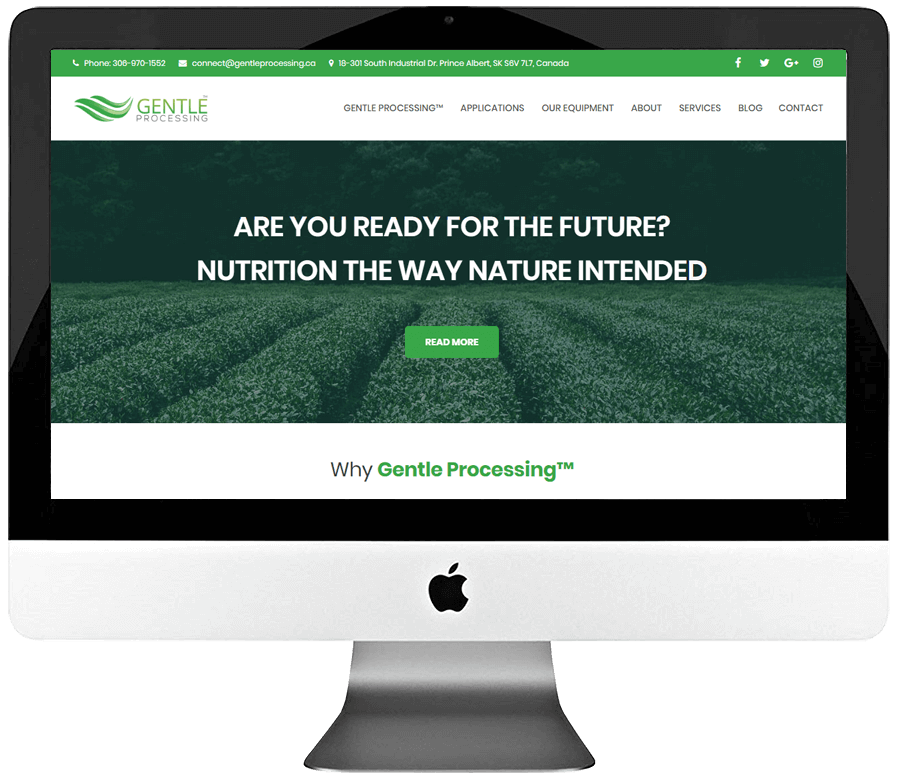 Food Processing Technology Responsive WordPress Website Design