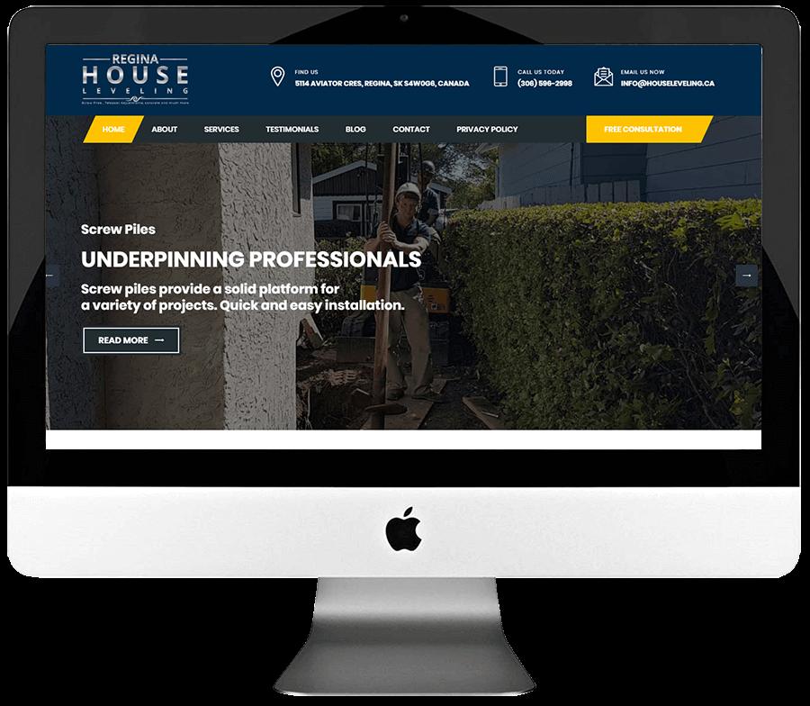 Foundation Repair Company Responsive Wordpress Website Design & Development