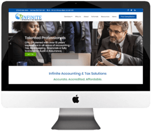 Chartered Professional Accountant Responsive WordPress Website Design & Development