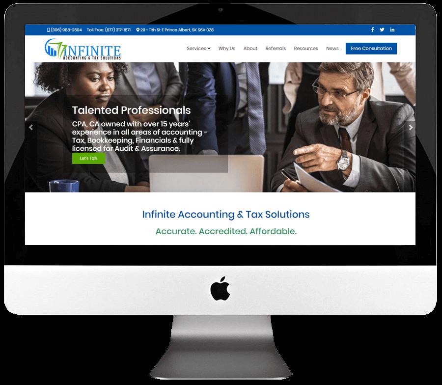 Chartered Professional Accountant Responsive WordPress Website Design & Development