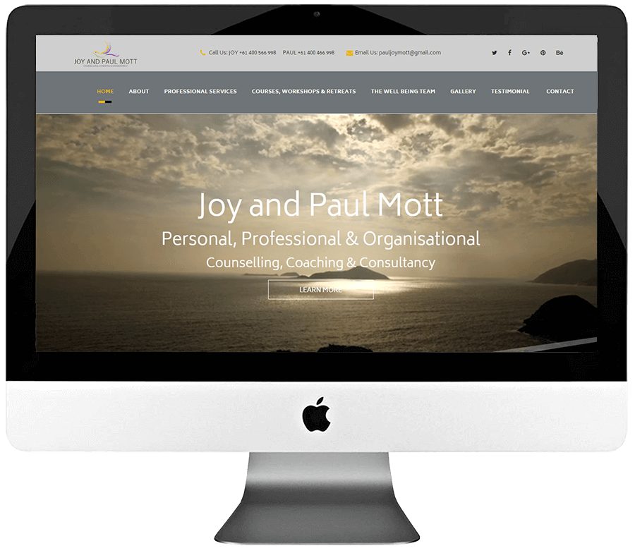 Coaching & Consulting Responsive WordPress Website Design
