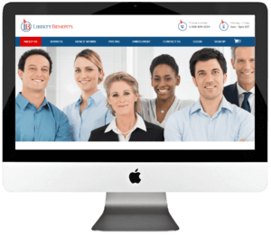 Healthcare Insurance Company PSD to WordPress Web Development