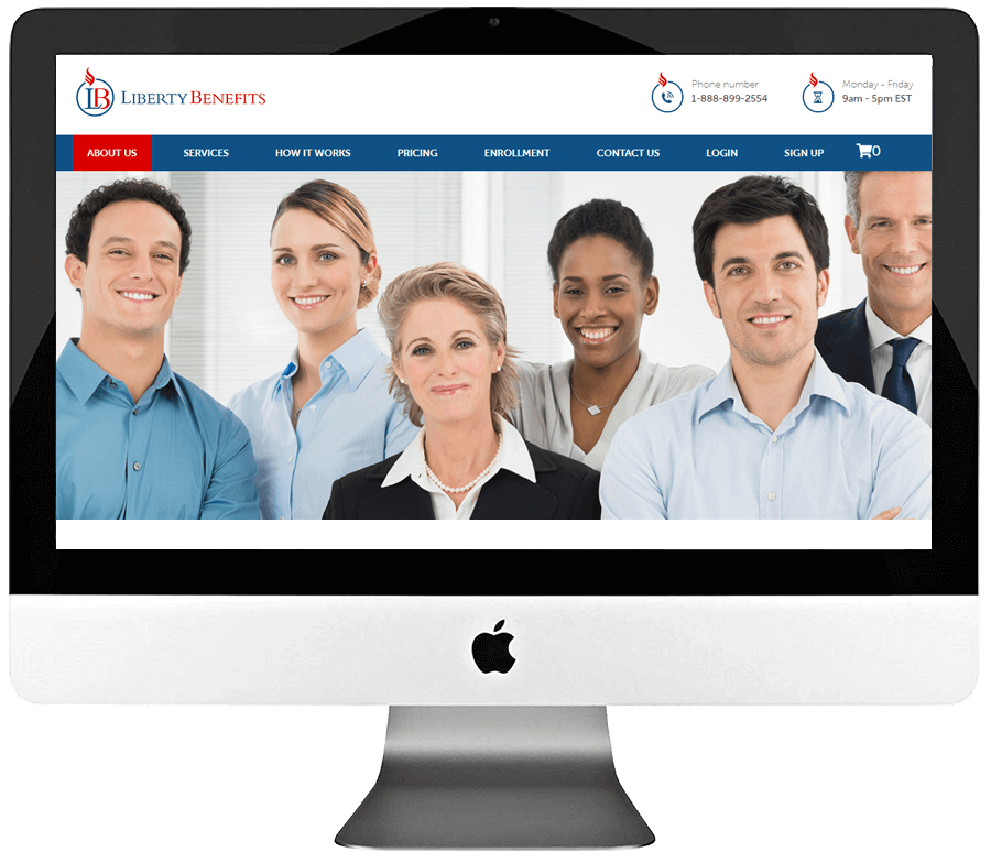 Healthcare Insurance Company PSD to WordPress Web Development