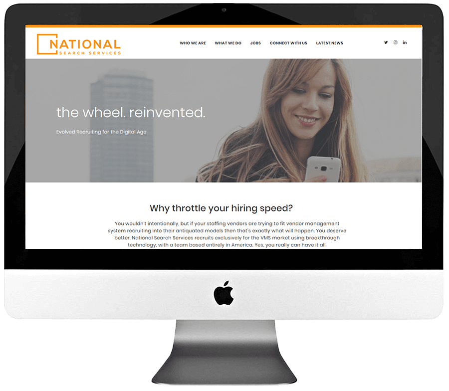 Staffing Firm Responsive WordPress Website Design