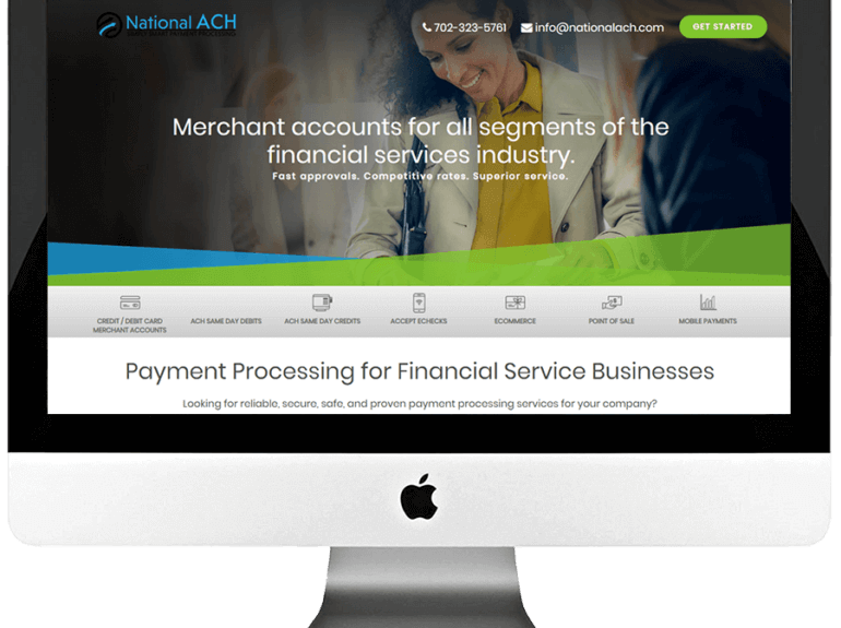 Merchant Account Provider Responsive Landing Page Design