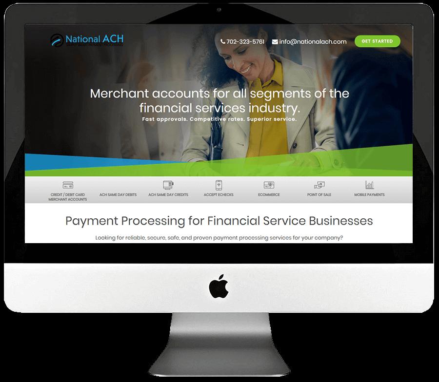 Merchant Account Provider Responsive Landing Page Design