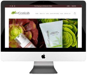 Natural Skincare Products WooCommerce Store Design & Development