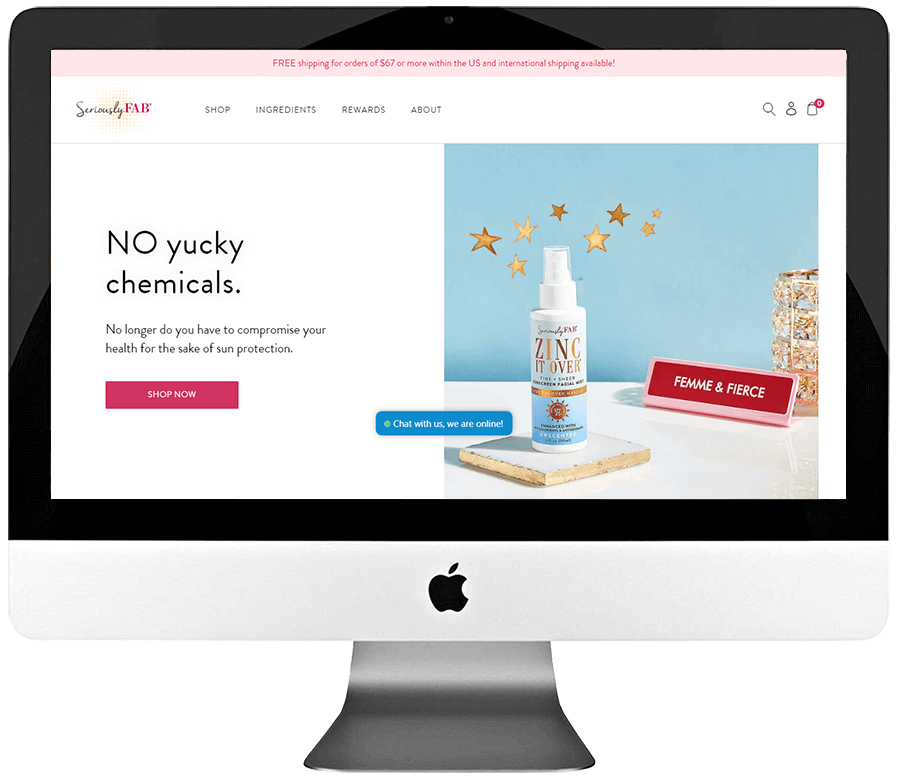 Skincare Products Shopify Store Development