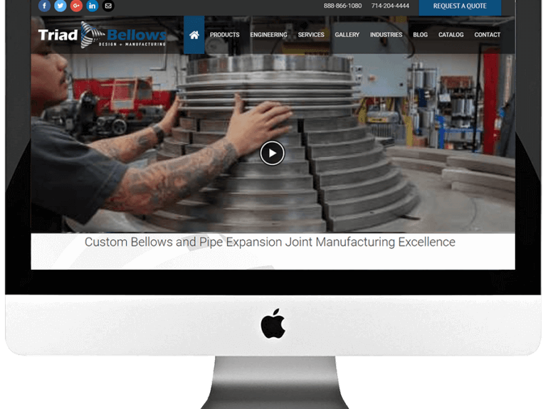 Industrial Manufacturer Responsive WordPress Website Development